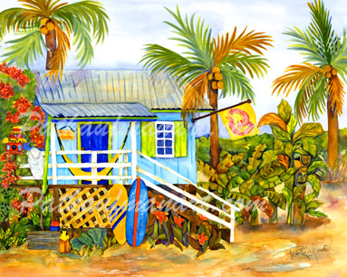 cottages and beach living paintings Beach House
