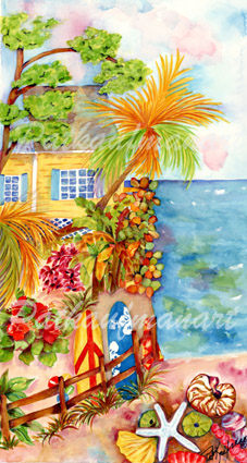 cottages and beach living paintings Beach Living is So Good