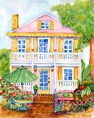 cottages and beach living paintings Cottage by the Sea IV