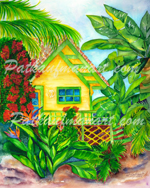 cottages and beach living paintings Cozy Cottage