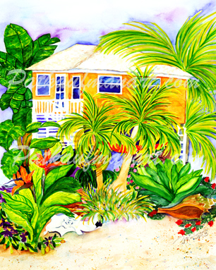 cottages and beach living paintings Estero