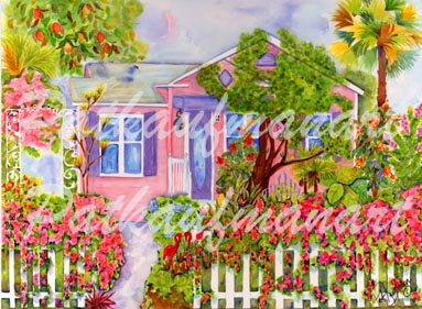 cottages and beach living paintings Home Sweet Home