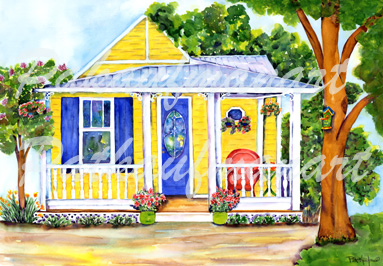 Cottages And Beach Living Paintings New Symrna