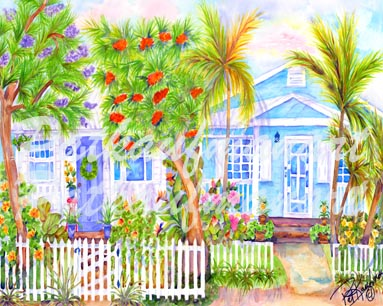 cottages and beach living paintings SE Cottages